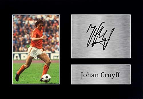 HWC Trading Johan Cruyff A4 Senza Cornice Firmato Regalo Visualizzazione delle Foto Print Immagine Autografo Stampato per Holland Tifosi di Calcio