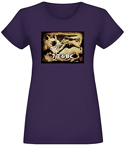 776 v. Chr. Olympische Spiele - 776 BC Olympics T-Shirt Top Short Sleeve Jersey for Women 100% Soft Cotton Womens Clothing Medium