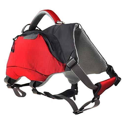 Lifeunion Adjustable Dog Backpack Life Jacket Outdoor Waterproof Hiking Camping Dog Saddle Bag Pack for Medium Large Dogs (Medium)