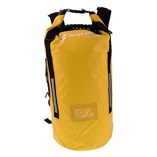 lahomia Portable Dry Sack/Floating 40L Waterproof Bag Dry Gear Bag Backpack RuskSack - Yellow