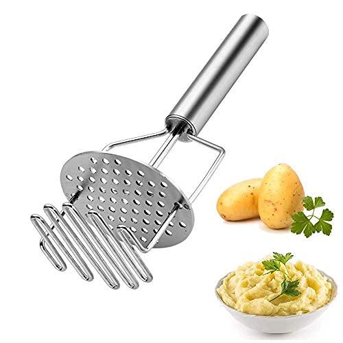 Triturador de patatas - Accesorios de cocina de cocina Triturador de patatas, herramienta de cocina de acero inoxidable, adecuado para frijoles..