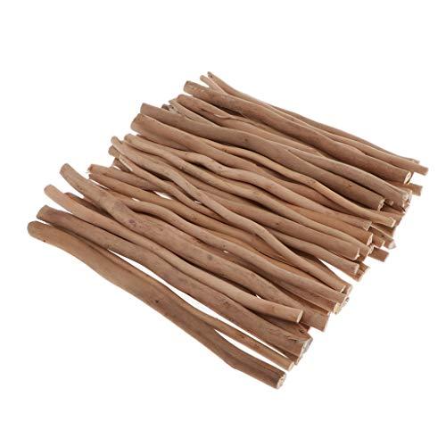 *P Prettyia 50x natürliche Treibholz Holzscheiben Verzierung Holzstücke zum Dekorieren basteln für DIY Handwerk – 20 cm*