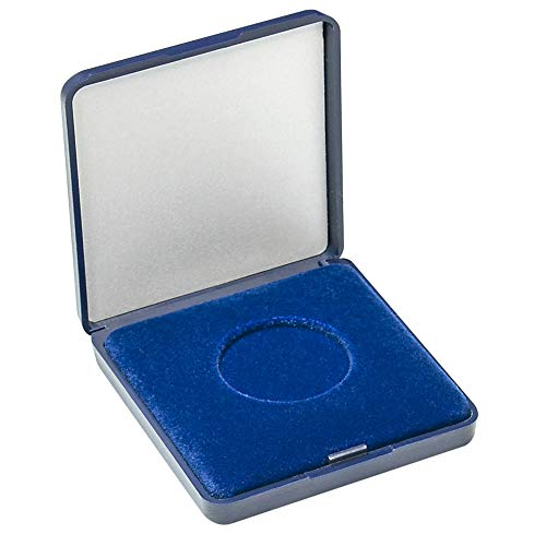 LINDNER Das Original Münz-Etui mit Blauer Velourseinlage für Münzen/Münzkapseln bis Außen-Ø 33 mm