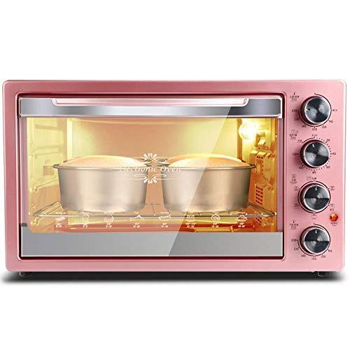 BBQ Microonde 42L Rosa multi-funzione di forno elettrico, 3D Hot Air Circulation System con 120 Minute Timer - Compreso regolabile Controllo di temperatura, Brindisi, cuocere, pizza, Rosticceria