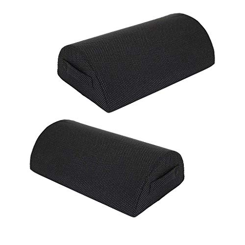 Footrest cushion for pack of 2 under the desk - Ergonomic footrest that your feet will love at home or in the office black
