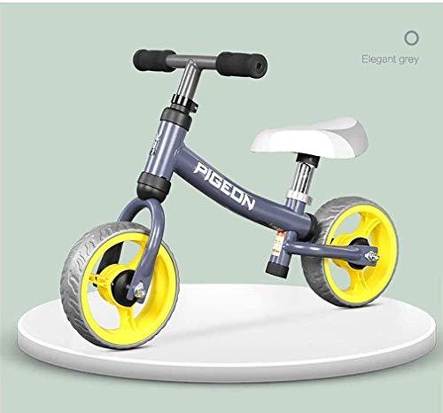Cómodo Niños bicicleta de equilibrio, for niños y niñas 1-4 años de edad sin pedal de aprender a montar en la bici EVA Ruedas asiento ajustable mango del bastidor de acero al carbono bicicleta del dep