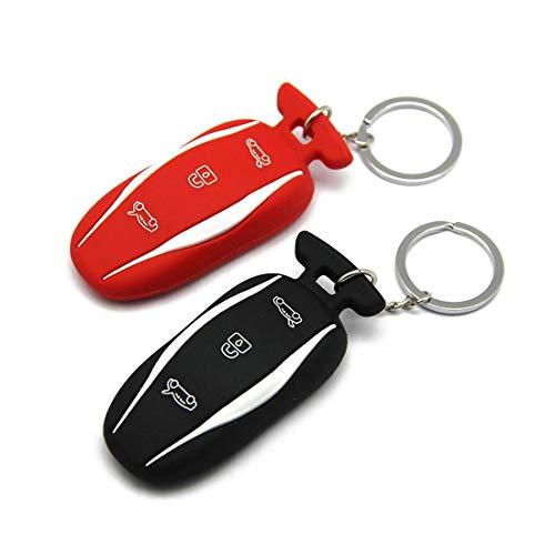 Schlüssel Schutzhülle aus Silikon (rot und schwarz)