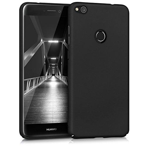 kwmobile Funda Compatible con Huawei P8 Lite (2017) - Carcasa Dura para móvil - Case Trasero Duro en Negro Mate
