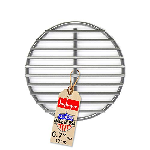 """Stainless High Heat Charcoal Fire Grate Upgrade for Medium Big Green Egg Grill - 6.8"""" - 10yr Warranty"""