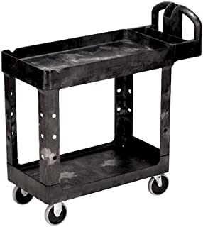 Rubbermaid 4500-88 Black 4500-88 Low-Cost Plastic Service cart; 30