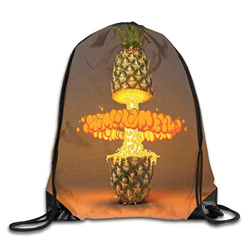 uykjuykj Bolsos De Gimnasio,Mochilas,Drawstring Backpack Bag Magical Pineapple Slice Rucksack For Gym Hiking Color 01 Lightweight Unique 17x14 IN