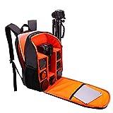 QLJJ Cámara Mochila Mochila Protección for el Bolso de la cámara SLR Resistente al Agua ya los Golpes de Reparto Portátil (Color : Orange)