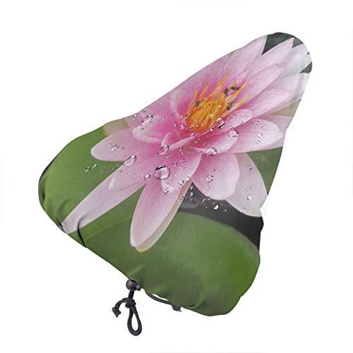 Enoqunt Funda Impermeable para Asiento de Bicicleta Vector Lindo Hermosas Rosas Rosadas Sillín de Bicicleta Fundas Antipolvo para Lluvia con cordón