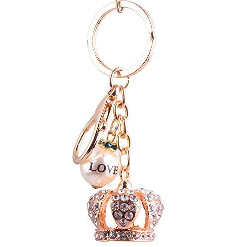 Llavero Llavero Metal Crown Key Cute Beads Sra. Bolsos Accesorios King Crown Accesorios Día de San Valentín Novias Regalos Día de San Valentín Hermanas Regalos de cumpleaños llavero para hombres y muj
