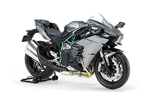 TAMIYA 300014136 1:12 Kawasaki Ninja H2 Carbon, originalgetreue Nachbildung, Modellbau, Plastik Bausatz, Basteln, Hobby, Kleben, Modellbausatz, Zusammenbauen, unlackiert