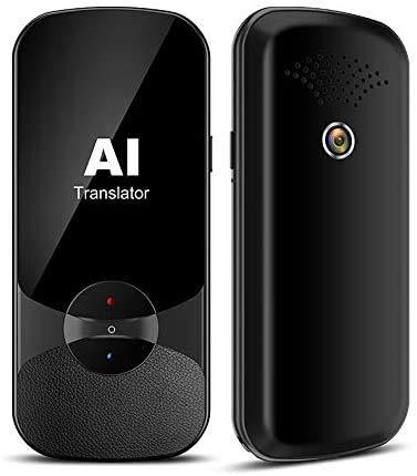 Language Translator Device Supports Offline Translation Assistance Super Accuracy Online Translation Audio Memo Camera Translation,106 Languages Two Way Translation for Travelling Learning(Black)