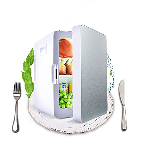 20L Mini Fridge, Quiet Operation Skincare Fridge, Energy Efficient Beauty Fridge, Camping Fridge With Removable Partition and Door Shelf, Wine Beer Drink Fridge Cabinet for Homes, Offices, and Dorms