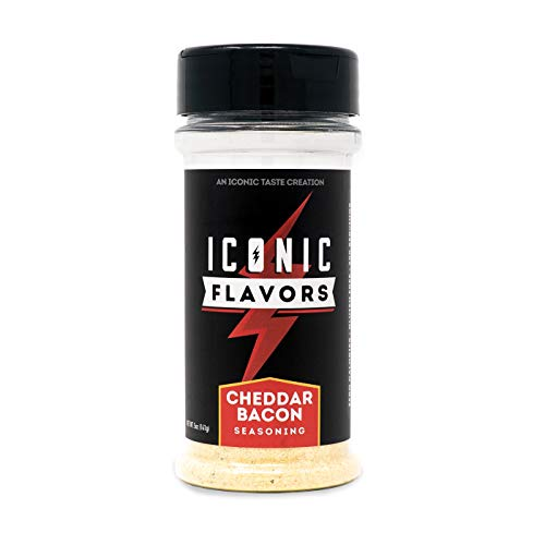 ICON Meals Gluten Free Zero Calorie Seasonings, Meal Prep, Flavor Enhancer, Keto Approved, Real Ingredients, Amazing Taste, Low Carb (Cheddar Bacon)