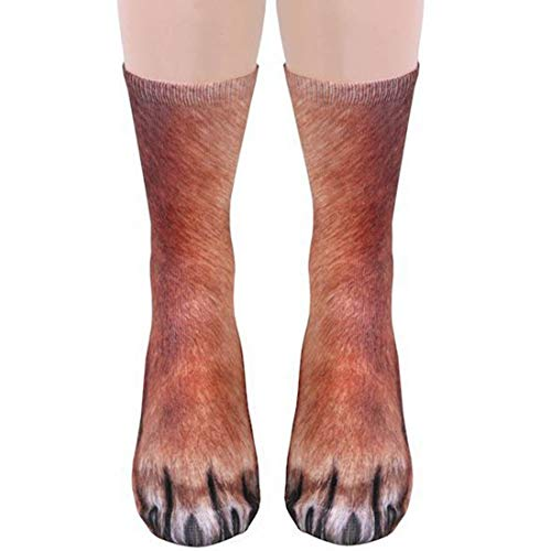 Funny Animal Paw Socks Gag Gifts for White Elephant Gift Exchange (Dog)