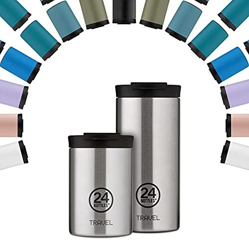 24Bottles Tazza da Viaggio Termica | Tazza Thermos in Acciaio Inox senza BPA | 12Ore Freddo 6Ore Caldo | Travel Tumbler | Design Originale Italiano (Tuxedo Black, 600 ml)