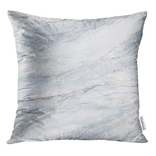 GFGKKGJFD313 Funda de almohada decorativa cuadrada, 18 x 18 pulgadas, granito natural, mármoles de granito gris y piedra de losa abstracta, fundas de cojín decorativas, cuadradas, fundas de almohada para sofá, accesorio para el hogar, regalos
