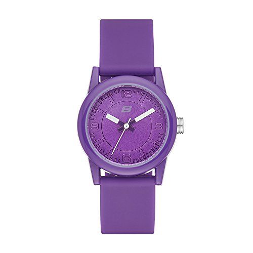 Skechers Damen Analog Quarz Uhr mit Silikon Armband SR6034