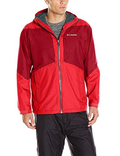 Columbia Evergreen - Chaqueta para hombre, Hombre, color Rojo Montaña/Jester Red, tamaño medium