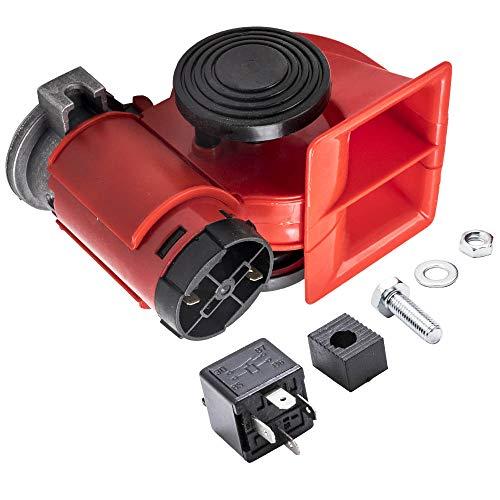 maXpeedingrods 12V 150dB Druckluft Lufthorn Dual-Klang Hupe für PKW Auto Kompressor Fanfare