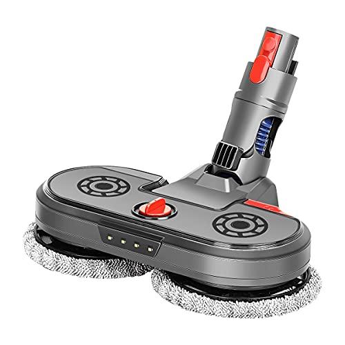MOPEI Accessorio per scopa a pavimento con serbatoio d'acqua, compatibile con aspirapolvere Dyson V7 V8 V10 V11, fari a LED