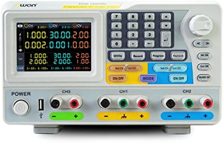 OWON ODP6033 Output Power 378W Output Range 060V   3A x 2CH   06V   3A Channel 3 Output Resolution 1mV   1mA