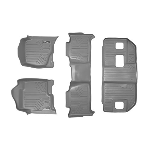MAXLINER Floor Mats 3 Row Liner Set Grey for 2007-2014 Chevrolet Suburban/GMC Yukon XL and Denali XL