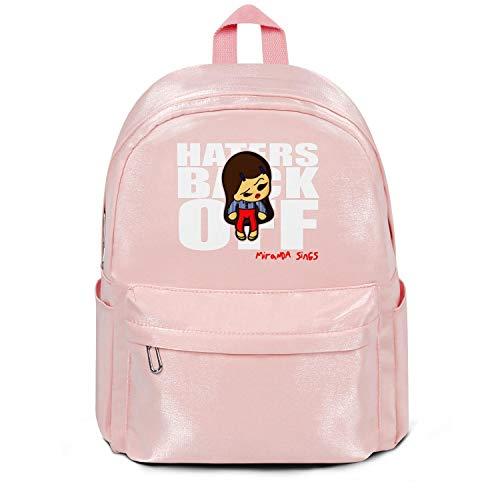 NALINA Haters Back Off Miranda Sings Travel Laptop Pink Backpacks Womens MensCute North Face Backpack
