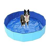 NEW折り畳み式パドリングプールPVCペットバスタブ折りたたみ盆地のために犬猫子犬子猫シャワープールハウスペット折りたたみプール 人気の販売ペット用浴槽 (Color : Blue color, Size : 120x30cm)