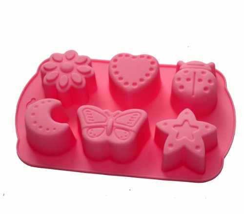X-Haibei Pasta Maker Mold Soap Jello DIY Crayon Melt Mould Star Butterfly Moon Beetle Heart Flower Silicone Mold