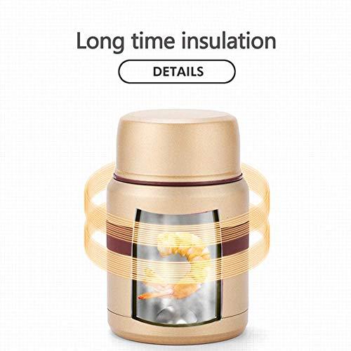 Voor de menselijke voeding, warmte-isolatie voedingspotje vacuum, 304 roestvrij staal, broodtrommel multifunctionele suspensie, draagbaar, met een lepel