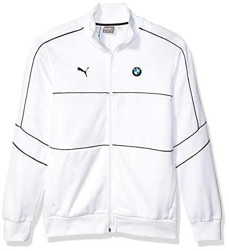 PUMA Herren BMW Motorsport T7 Track Jacket Fleecejacke, White, Medium