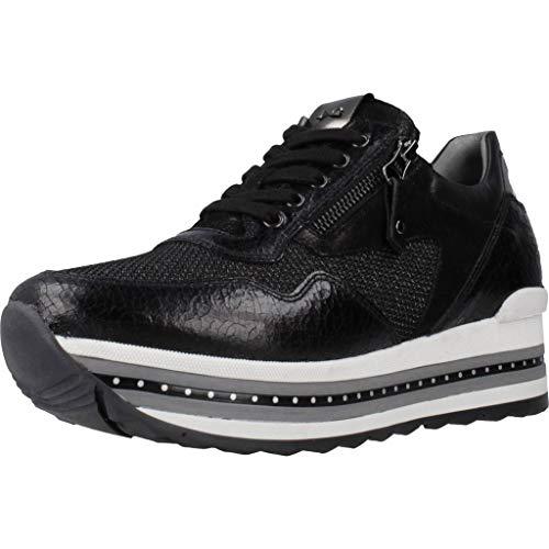 GUESS Zapatos de Mujer Zapatillas de cuña FL8TILELE12 Negro Talla 39 Negro (Ropa)