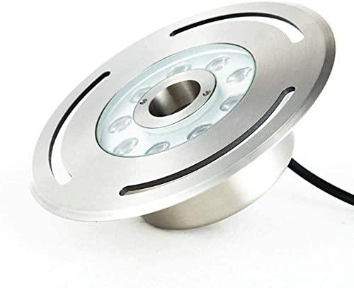 BABYCOW Lámpara de Pared Simple y Fresca, Foco LED Sumergible, luz Nocturna, 12 V, Impermeable, Brillante, Impermeable, IP68, Acuario, Aire,Tanque de Peces, luz subacuática empotrada de Acero inoxi