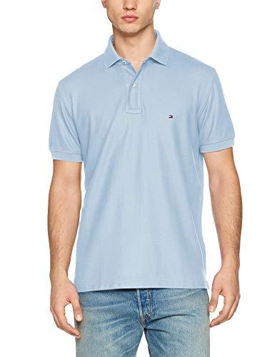 Tommy Hilfiger Herren Hilfiger Regular Polo Poloshirt, Blau (Chambray Blue 422), Small (Herstellergröße: S)