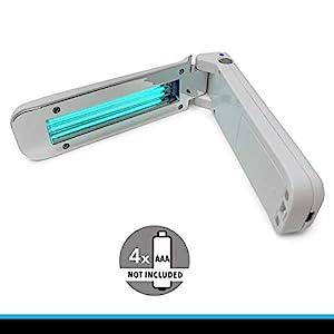 immagine di CROWN LED UV-C Lampada Portatile Disinfettante | È Dimostrato Che Uccide Fino Al 99,9% Di Virus, Batteri E Germi Su Varie Superfici | Domestico Sterillzzazione Ultravioletti I 253,7nm UV C