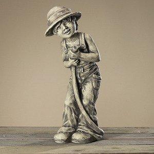 Wasserspeier Gartenkind Fritz, Skulptur aus Steinguss, Figur