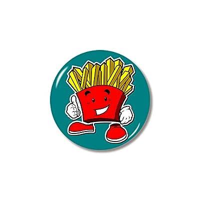 Ximai Magnet Aimant Frigo Enfant Aimant de Réfrigérateur 3D Dôme Verre Snack Foods #Frites