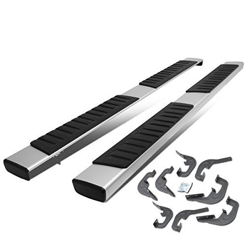 """Mejor Stainless Steel 6"""" Side Step Nerf Bar Running Board Replacement for Silverado GMC Sierra 1500 2500HD 3500HD Crew Cab crítica 2020"""
