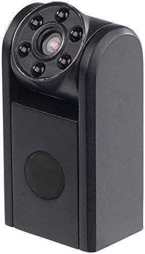 Somikon Mini Camera: Mini-HD-Überwachungskamera, IR-Nachtsicht, PIR-Sensor, 1 Jahr Stand-by (Kamera Bewegungsmelder)