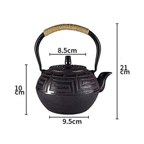 Infuser Theapot - Tetera grande de cerámica (1,2 L), diseño vintage de TeaPot con infusor de acero inoxidable para el té interior oxidado sin revestimiento, sin revestimiento