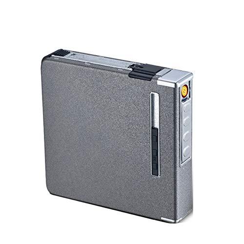 Encendedor Creatividad De La Caja De Cigarrillos Metal PortáTil Caja De ProteccióN De Paquete Completo (20 Paquetes),B