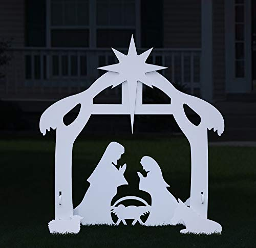 TOETOL Outdoor Nativity Set for Christmas, Large Holy Family Outdoor Nativity Scene for Yard