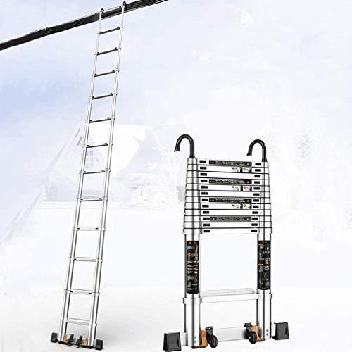 YZH Escaleras portátiles Ligeras Aluminio Multi-Uso Extensi