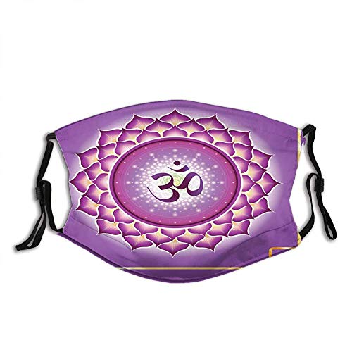 Cómoda cubierta resistente al viento, chakra árabe, círculo de meditación y espiritual, hippie, decoración para la cara impresa para adultos