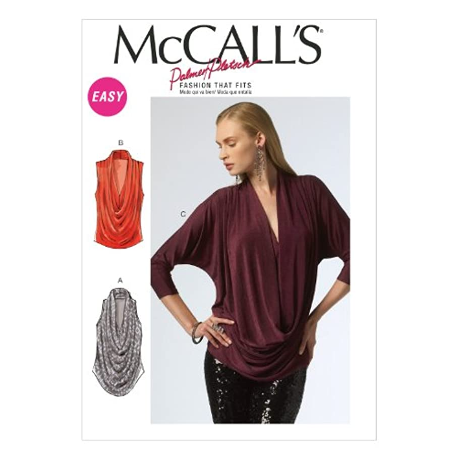 McCall Pattern Company M6841 Misses' Tops Sewing Template, Size Y